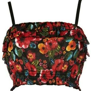 Fun night out Floral crop top